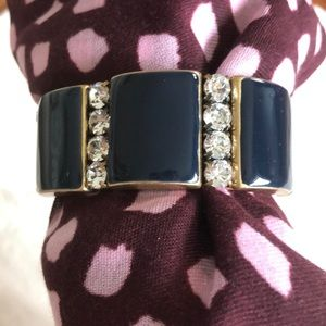J. Crew navy stretch bracelet